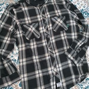NWT MENS MIGHTY HEALTHY FLANNEL SHIRT